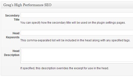 Greg's High Performance SEO