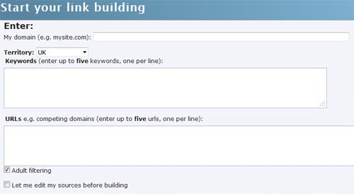 WordTrackers Link Builder for Blogger Outreach
