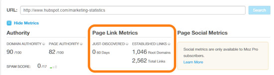 Page Link Metrics