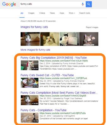 Google YouTube Video Result