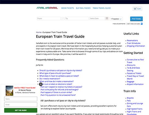 Italiarail Free Guide Incentive